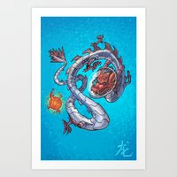 Astro Zodiac Force 05: Dragon Art Print