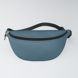 Sherwin Williams Trending Colors of 2019 Endless Sea Blue SW 9150 Solid Color Fanny Pack