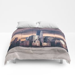 Dramatic City Skyline - NYC Comforters