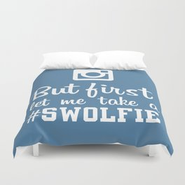 #swolfie Duvet Cover