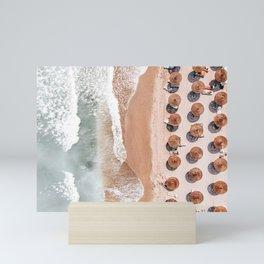 Aerial Beach Print, Beach Photography, Aerial Photography, Blue Ocean Print, Sea Beach Print Mini Art Print