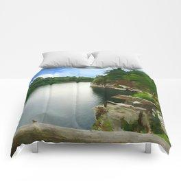 Majestic Mohonk Lake Comforters