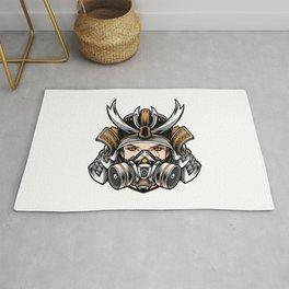 Samurai Women Wear Respirator Mask Rug