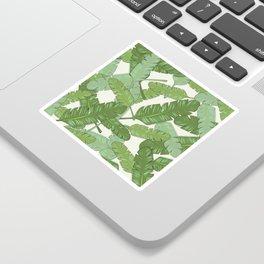 Banana Leaf Print Sticker