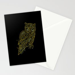 Electric Owl Stationery Cards