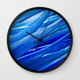 Blue Murano Glass Abstract Wall Clock