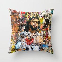J Cole Portrait Artwork Throw Pillow