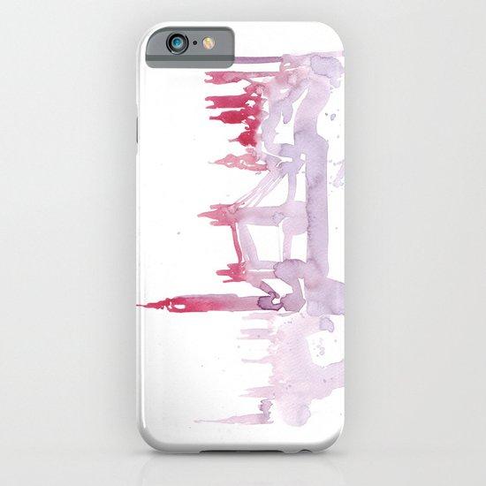 Watercolor landscape illustration_London iPhone & iPod Case