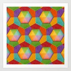 Geometric Rainbow (smaller scale) Art Print