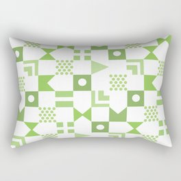 Pattern Pandemonium-Green Rectangular Pillow