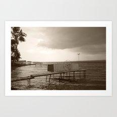 Storm Clouds over Cayuga Lake 2013 Art Print