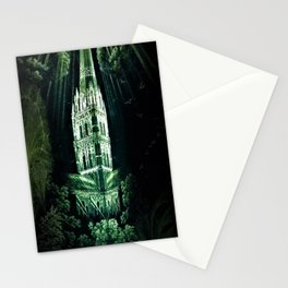 Memorial Glass Prism Engraving at Salisbury Cathedral by Rex Whistler Stationery Cards