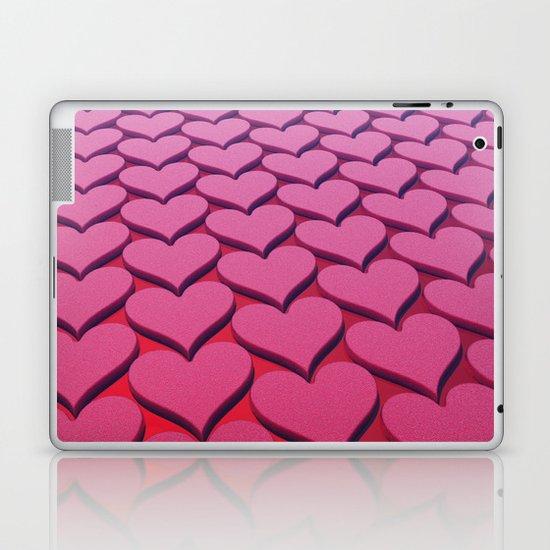 Textured 3D Heart Pattern Laptop & iPad Skin