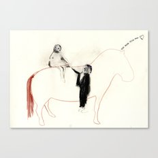 The horse senses it Canvas Print