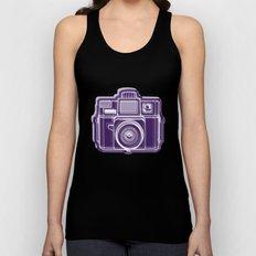 I Still Shoot Film Holga Logo - Deep Purple Unisex Tank Top
