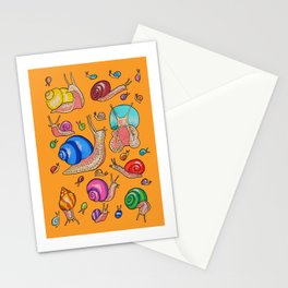 Moving slow pattern Stationery Cards