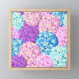 Purple & Blue Hydrangeas Framed Mini Art Print