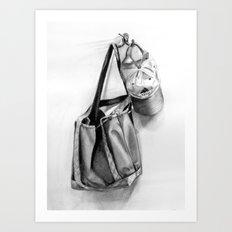 Bag and Hat Art Print
