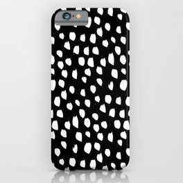 Handdrawn drops and dots on black - Mix & Match with Simplicty of life iPhone Case