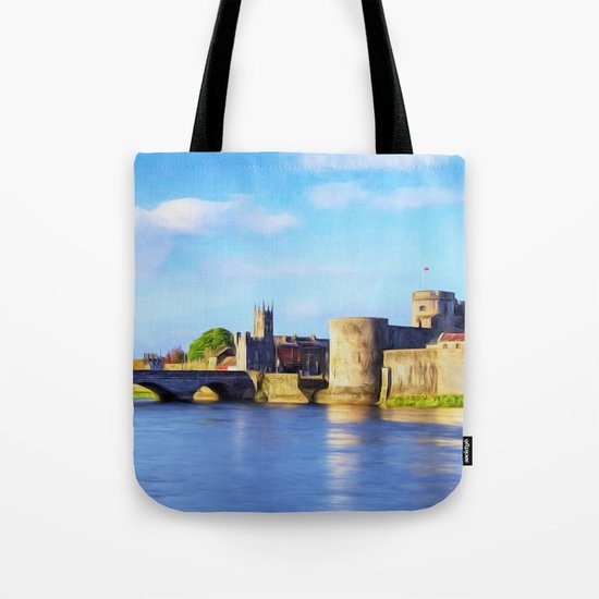 King Johns Castle and Thomond Bridge Tote Bag