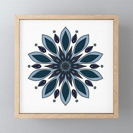 Blue knapweed flower Framed Mini Art Print