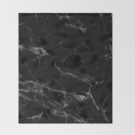 Black Marble Throw Blanket