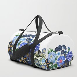 Vintage & Shabby Chic - Blue Flower Summer Meadow Duffle Bag