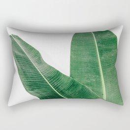 Tropical Banana Leaf Pair Rectangular Pillow