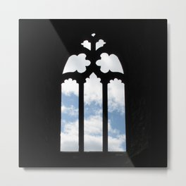 Clouds Through a Window Metal Print