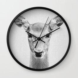 Doe 2 - Black & White Wall Clock