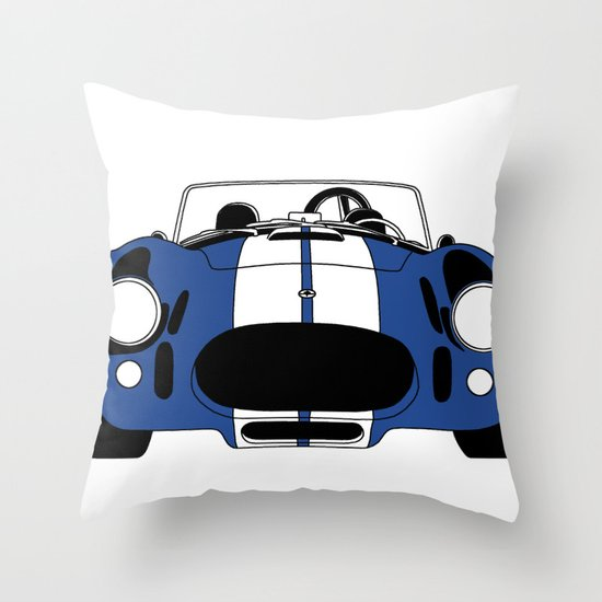 Shelby Cobra Throw Pillow