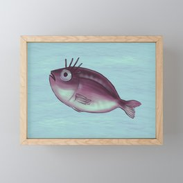Funny Fish With Fancy Eyelashes Framed Mini Art Print