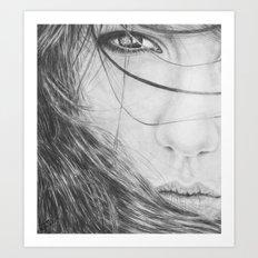 Windswept Beauty Art Print