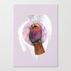 Spring birdy / Nr. 4 Canvas Print