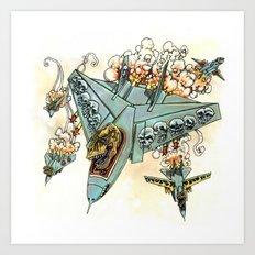Tyrannosquadron Rex! Art Print