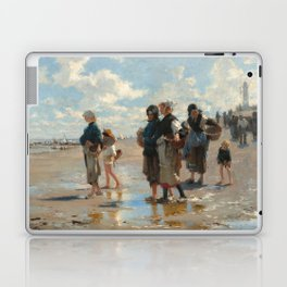 Setting Out to Fish Oil Painting by John Singer Sargent Laptop & iPad Skin