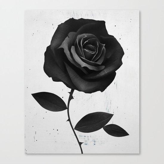 Fabric Rose Canvas Print