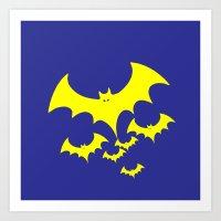 bat Art Prints featuring Bat by Spooky Dooky