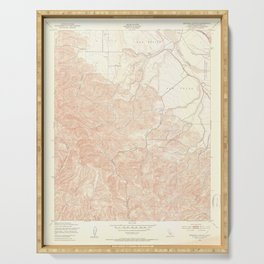 Espinosa Canyon, CA from 1949 Vintage Map - High Quality Serving Tray