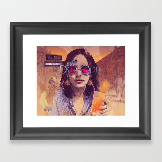 Welcome to the Fresh Doodle Framed Art Print