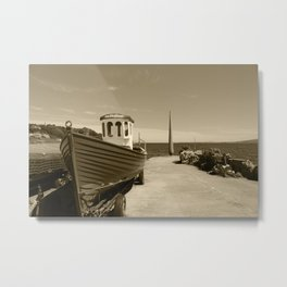 Moville Pier Donegal Tint 3 Metal Print