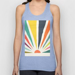 Rainbow ray Unisex Tank Top