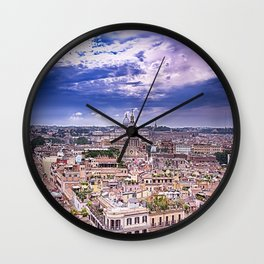 View Of Eternal City Rome Wall Clock