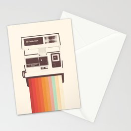 Instant Camera Rainbow Stationery Cards