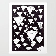 snowing pyramids II Art Print
