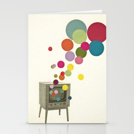 Colour Television Stationery Cards