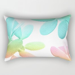 Rainbow Cacti Vibes #1 #pattern #decor #art #society6 Rectangular Pillow