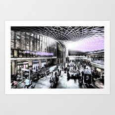 Kings Cross Station London Art Art Print