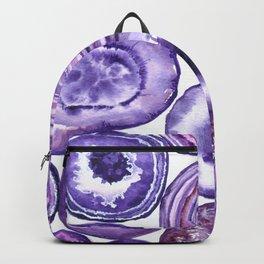 Purple agate pattern watercolor Backpack