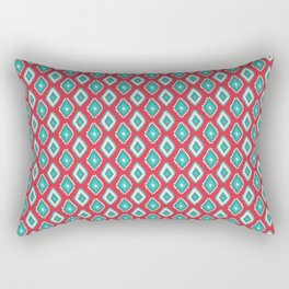 Abstract red teal green diamond pattern Rectangular Pillow